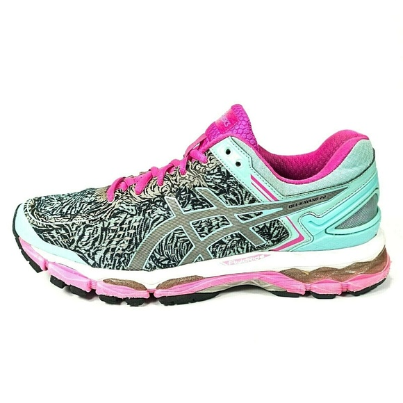 Details about ASICS Gel Kayano 22 Running Shoes White Pink Blue Women's Size 9